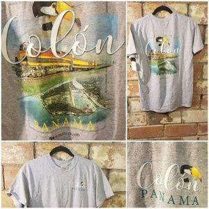 Princess Cruises Colo'n Panama Gray T Shirt sz M